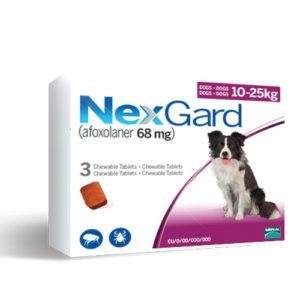 NexGard 10-25 кг - дъвчаща таблетка