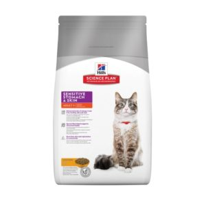 Hill`s Sensitive Stomach&Skin Cat - пиле 1.5кг