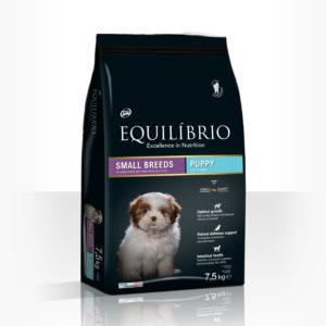 Equilibrio Puppy Small Breed - Пълноценна храна от най-висок клас за подрастващи кученца от дребни и мини породи.