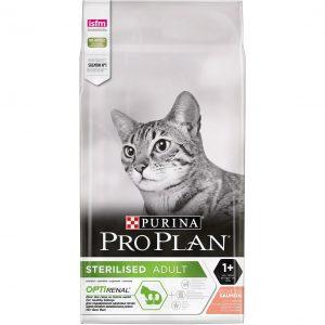 Purina Pro Plan Sterilised Cat Salmon – супер премиум храна за кастрирани котки със сьомга