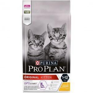 Pro Plan Original Kitten - супер премиум храна за подрастващи котета с пиле