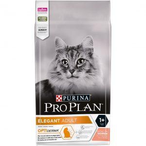Purina Pro Plan Elegant Cat Hairboll Salmon - супер премиум храна за котки. Контролира образуването на космени топки. Със сьомга.