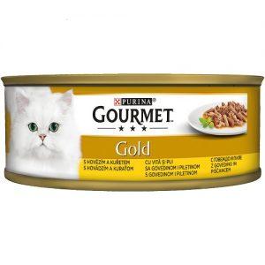 PURINA® GOURMET® Gold  - Двойно удоволствие, Говеждо и Пиле - 85 g