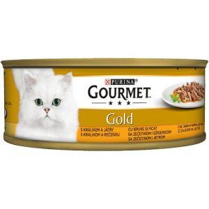 PURINA® GOURMET® Gold - Двойно удоволствие, Заек и Дроб - 85 g