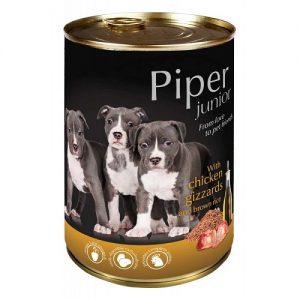 Piper Junior - воденички и кафяв ориз - Премиум консервирана храна за подрастващи кученца