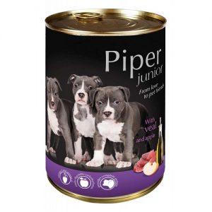 Piper Junior - телешко и ябълки - Премиум консервирана храна за подрастващи кученца